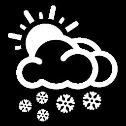 غالباً غائم مع تساقط الثلوج