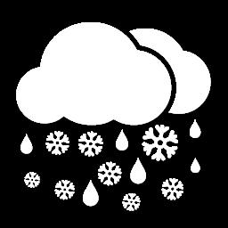 أمطار مخلوطة بالثلوج