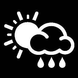 غائم جزئي مع زخات أمطار