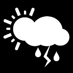 غائم جزئي مع زخات أمطار رعدية