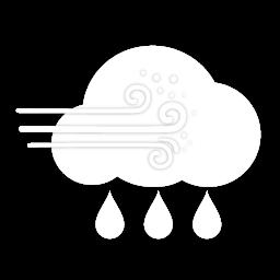 زخات أمطار مع غبار