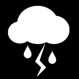زخات رعدية من المطر