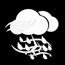 أمطار رعدية غزيرة مع رياح قوية