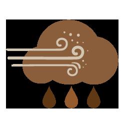 مغبر مع زخات أمطار