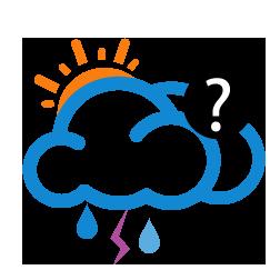 غالباً غائم مع احتمال أمطار رعدية خفيفة