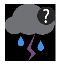 احتمال زخات رعدية من المطر