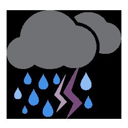 أمطار غزيرة مصحوبة بالعواصف الرعدية